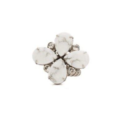 Sorrelli Fleur De Ring in White Howlite