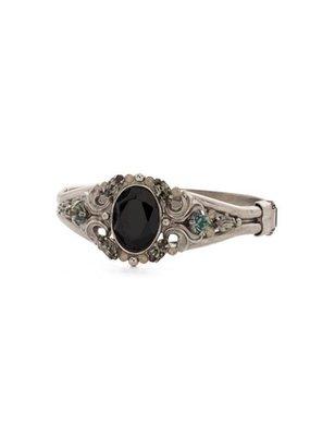 Sorrelli Flora Filigree Bracelet in Black Onyx