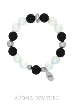 Aroma Couture Onyx and Opalite Lava Rock Diffuser Bracelet