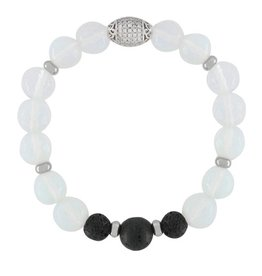 Opalite Lava Rock Diffuser Bracelet