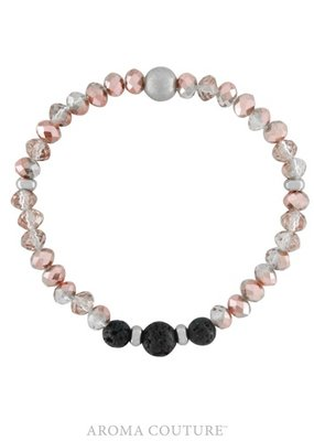 Aroma Couture Pink Crystal Lava Rock Diffuser Bracelet