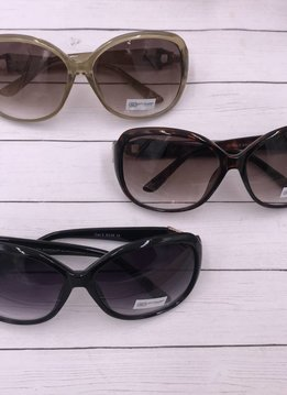 NYS Oval Sunglasses with Gold and Rhinestone Detail