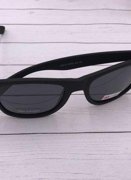 NYS Matte Black Polarized Wayfarer Sunglasses