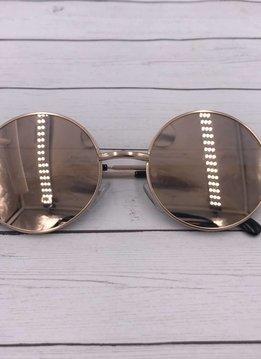 NYS Circle Rose Gold Mirror Metal Frames