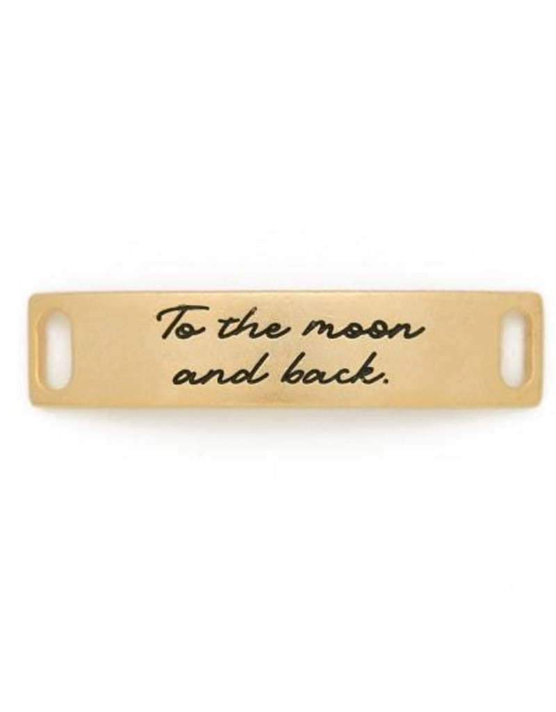 Lenny & Eva Gold Engraved To The Moon & Back Sentiment