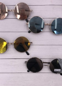 NYS Round Metal Frame Sunglasses