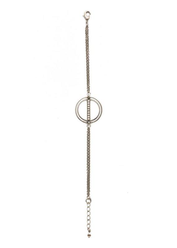 Sorrelli Mini Running In Circles Bracelet in Clear Crystal
