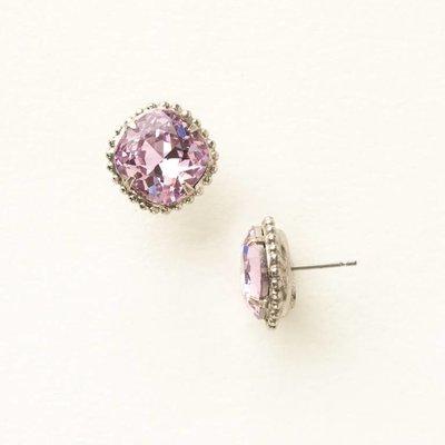 Sorrelli Cushion-Cut Solitaire Earring in Light Rose