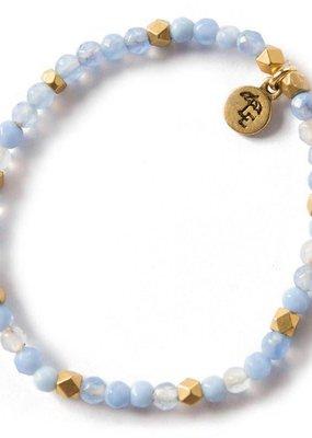 Lenny & Eva 4mm Gemstone Bracelet Blue Lace Agate