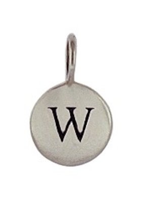 Sterling Silver Charm Initial W