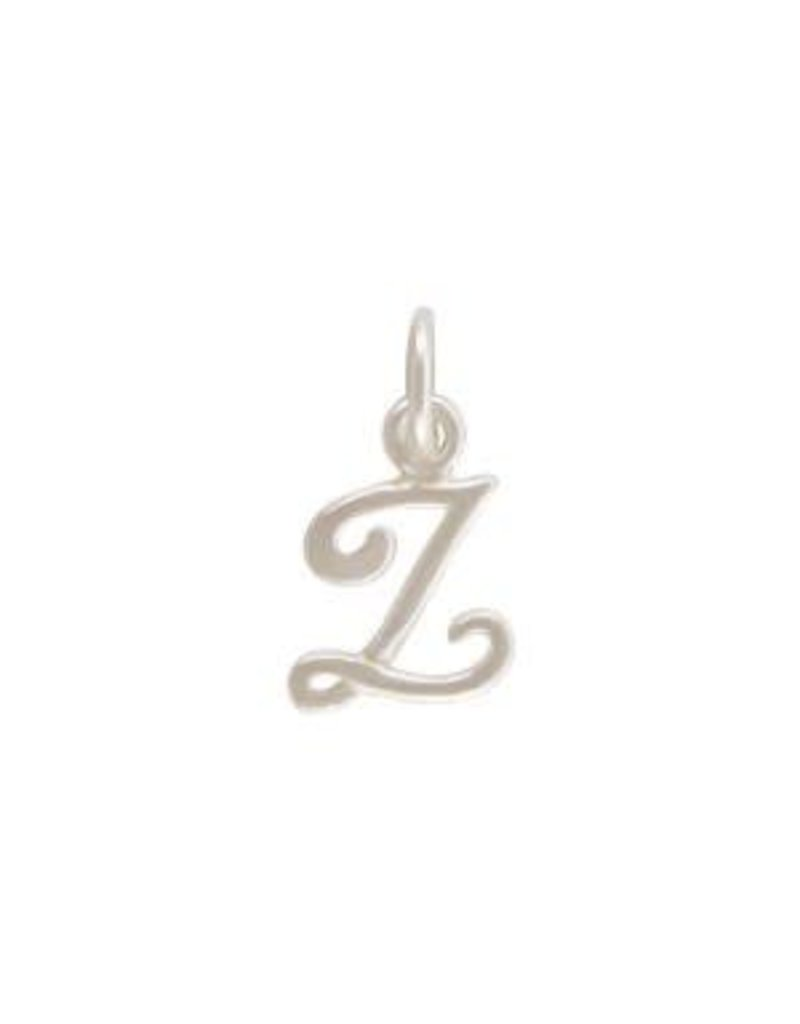 Sterling Silver Initial Z Script Charm