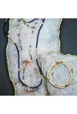 Scout White & Black Network Agate Stone Wrap