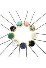 Larissa Loden Amazonite Sun & Moon Brass Necklace