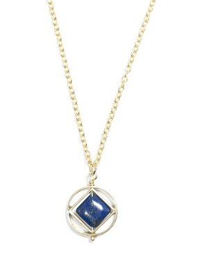 Michelle Starbuck Gold Lapis Mini Theorem 18 inch Necklace