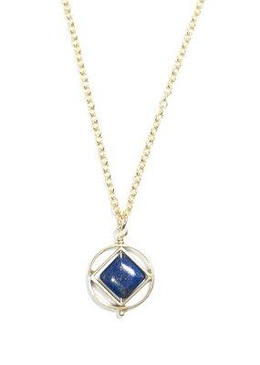 Michelle Starbuck Gold Lapis Mini Theorem Necklace