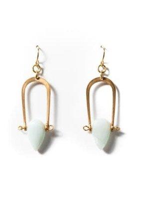 Michelle Starbuck Vintage Brass Petrichor Earrings