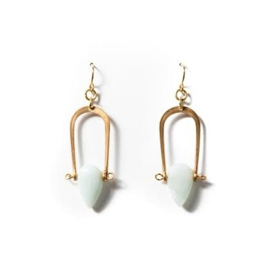 Michelle Starbuck Vintage Brass Petrichor Earrings