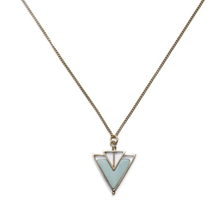 Michelle Starbuck Amazonite Helene Gold 24 inch Necklace