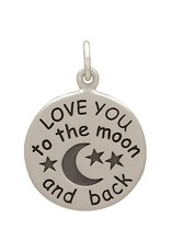 Sterling Silver Love You to the Moon Charm
