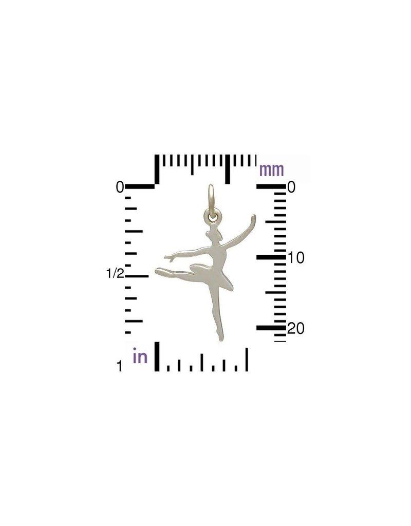 Sterling Silver Ballerina Charm