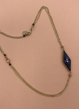 Nakamol Gold and Lapis Short Layered Necklace