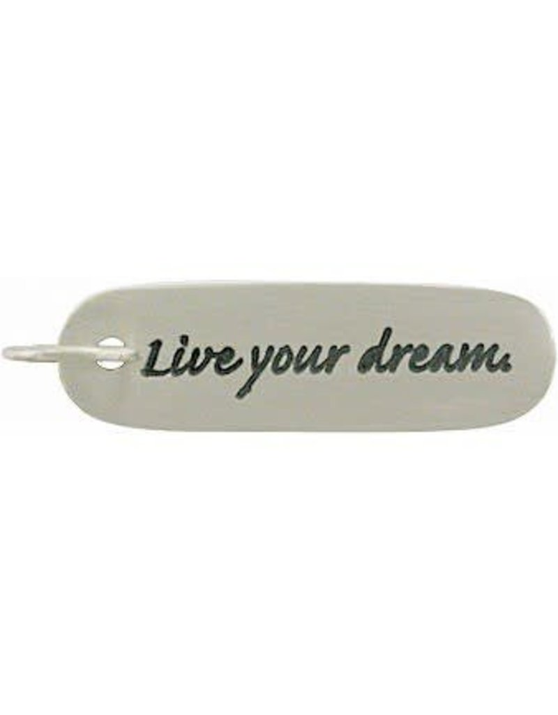 "Sterling Silver ""Live Your Dream"" Charm"