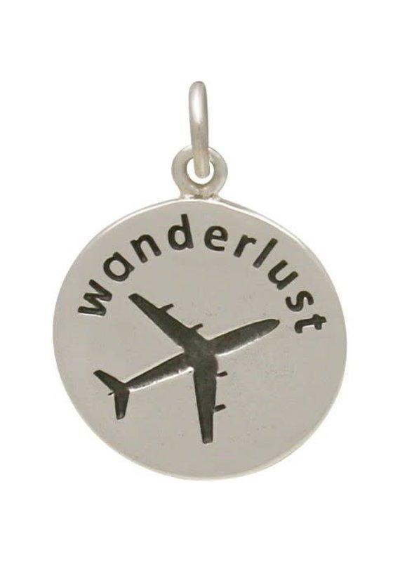 "Sterling Silver ""Wanderlust"" airplane Charm"