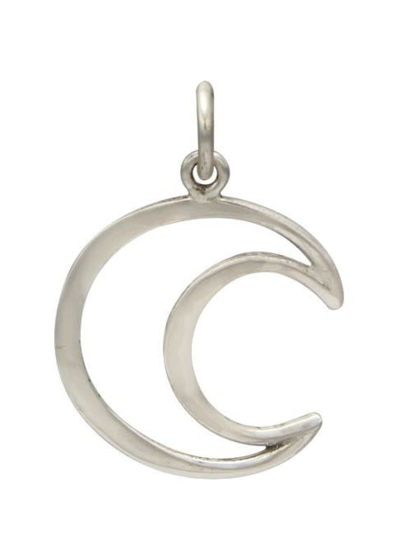 Sterling Silver Crescent Moon Charm