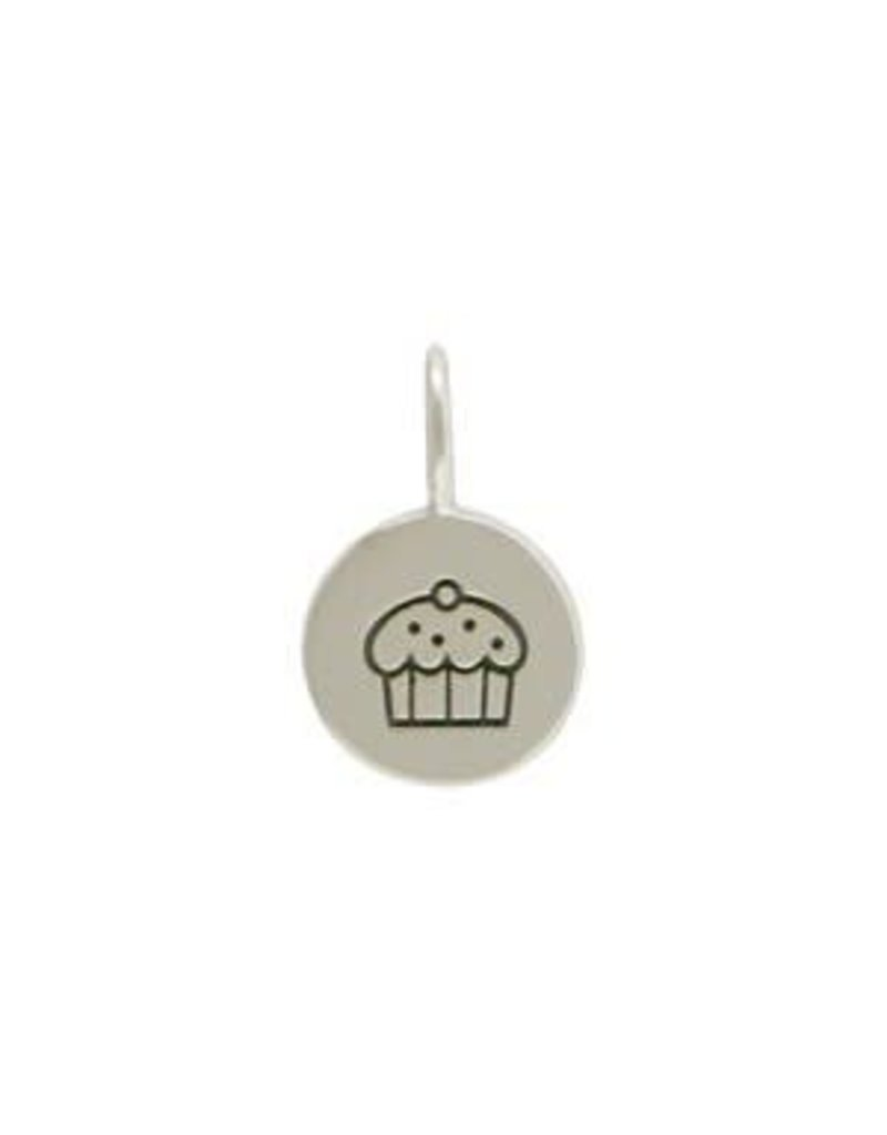 Sterling Silver Cupcake Charm