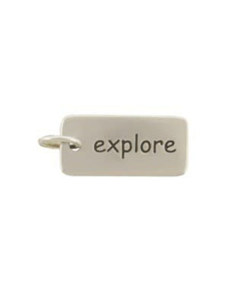 Sterling Silver Explore Charm