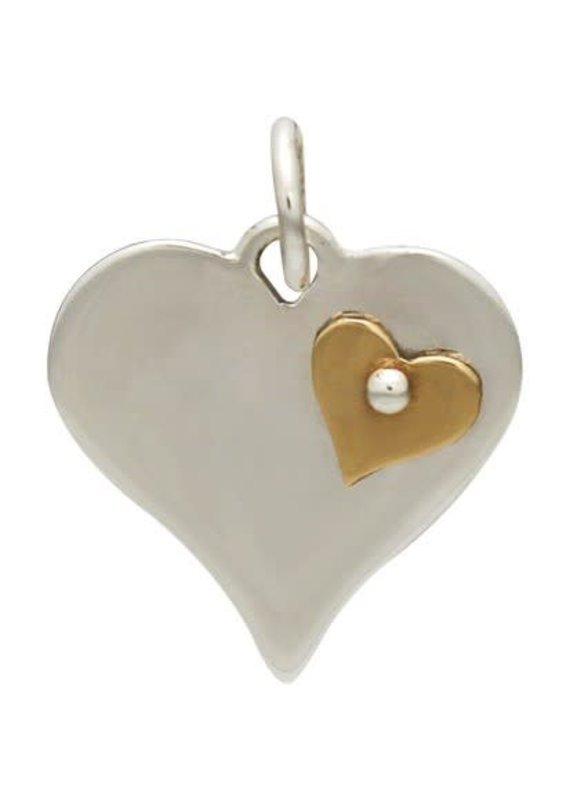 Sterling Silver Bronze Heart Charm