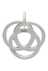 Sterling Silver Infinite Circles Love Knot Charm