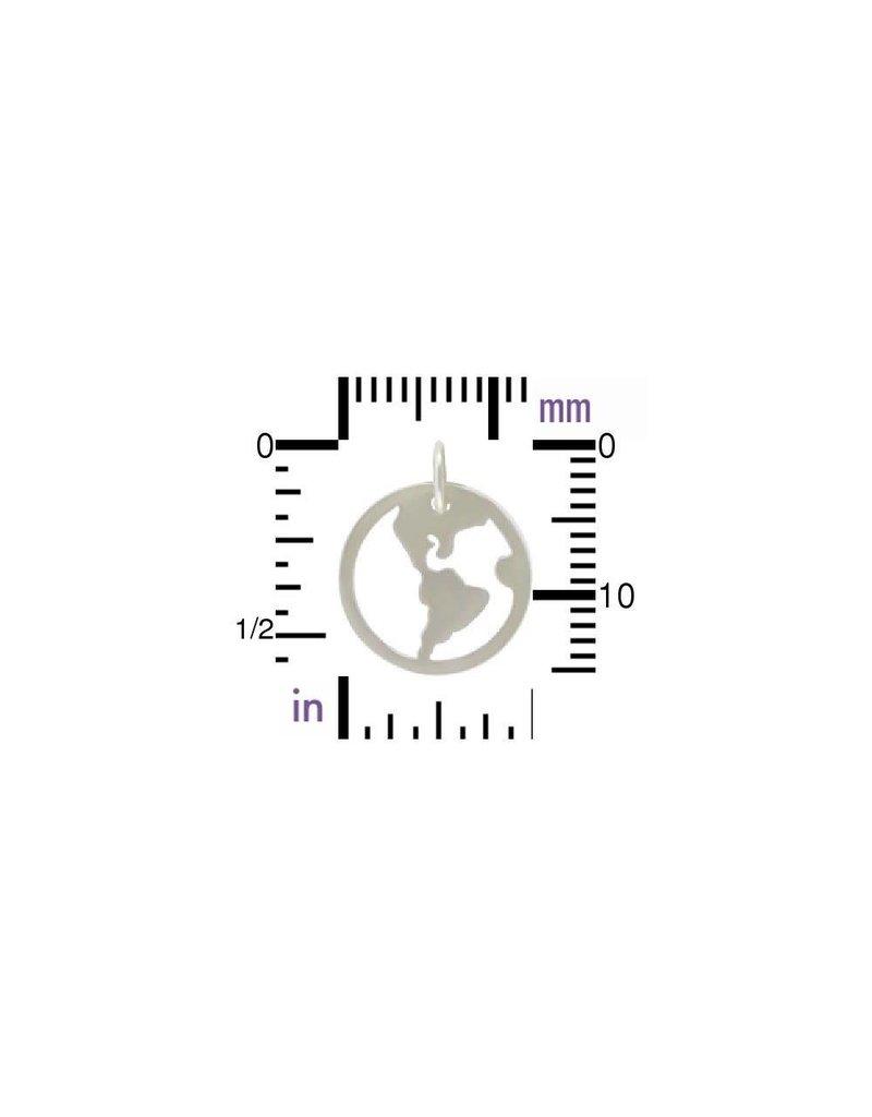 Sterling Silver Open Globe Charm