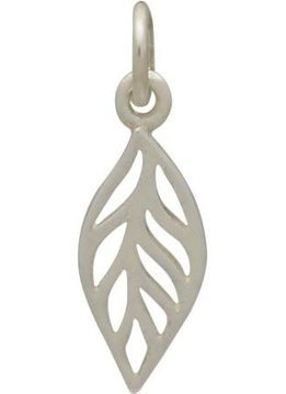 Sterling Silver Tiny Leaf Charm