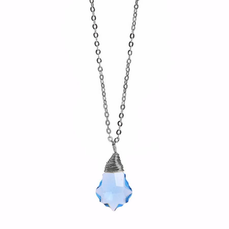 Less is More Sterling Silver Sapphire Baroque Necklace