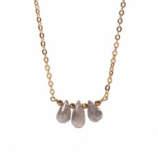 Less is More 14K Gold Filled Triple Labradorite Necklace