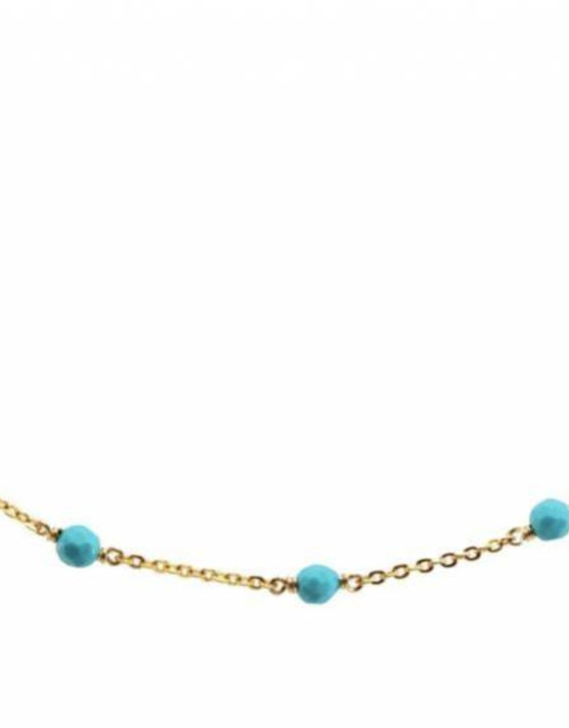 Less is More 14k Gold Filled Sleeping Beauty Turquoise Unity Bracelet