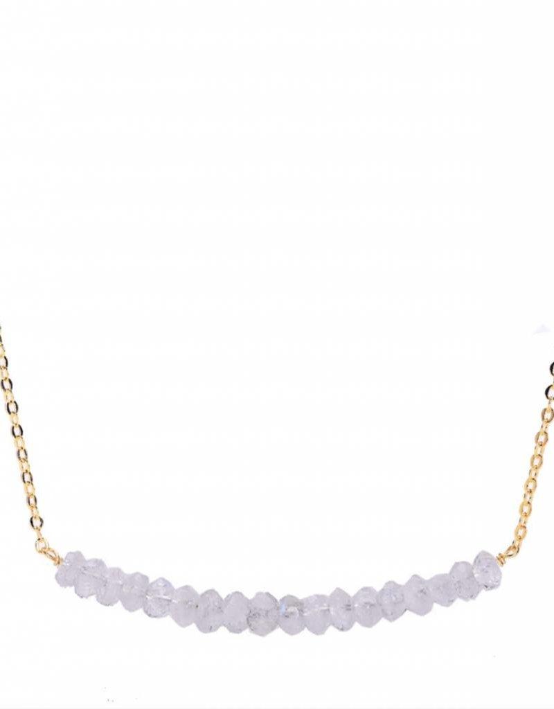 Less is More 14k Gold Filled Moonstone Smile Bracelet