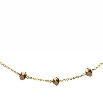 Less is More 14K Gold Filled Gold Hematite Unity Necklace