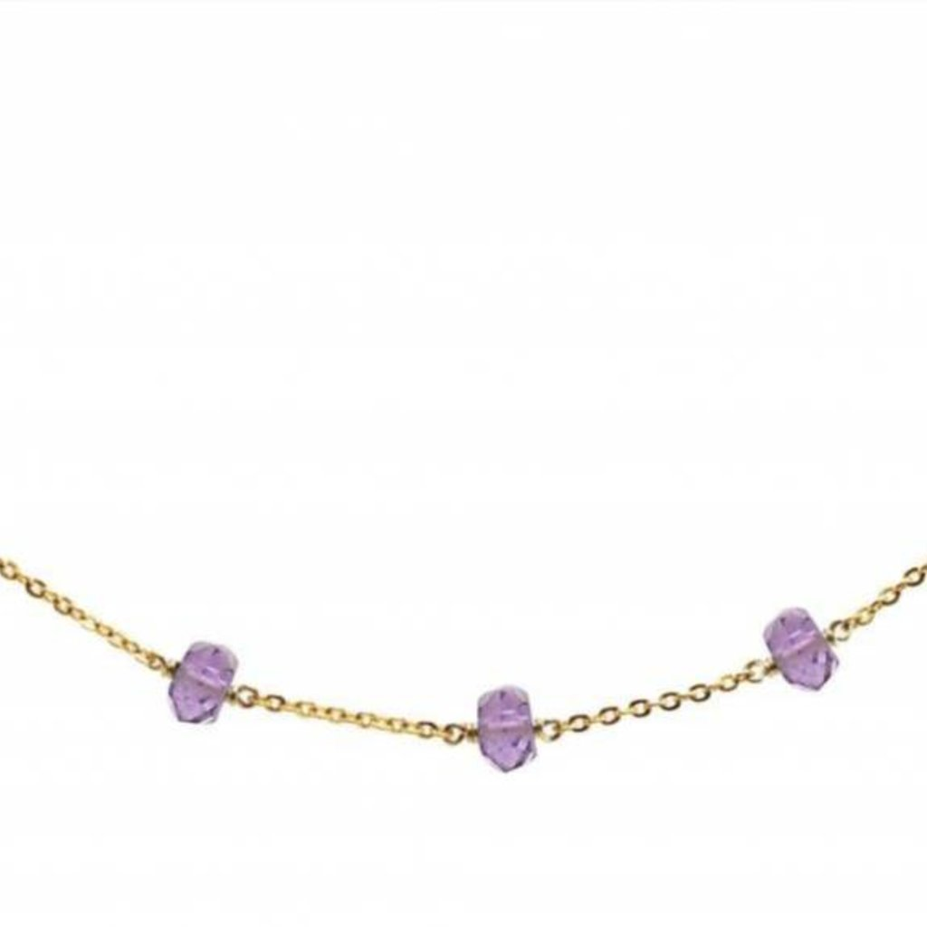Less is More 14K Gold Filled Amethyst Unity Necklace
