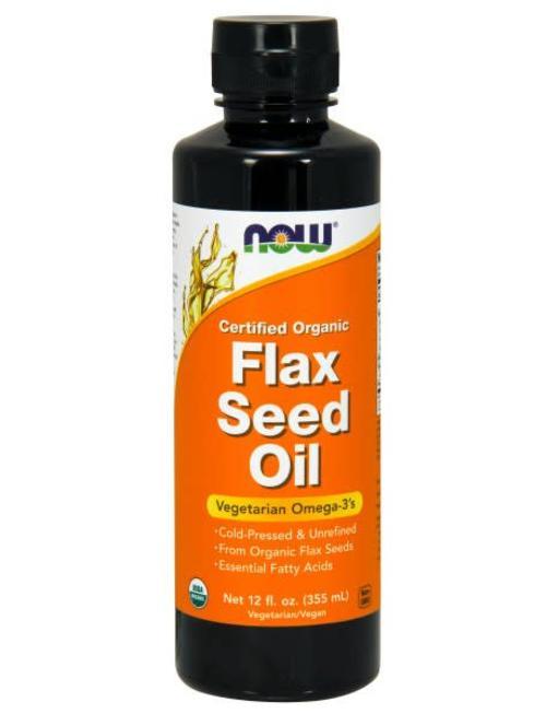 NOW FOODS FLAX SEED OIL ORGANIC 12 FL OZ