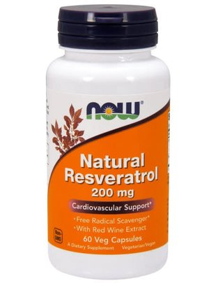 NOW FOODS NATURAL RESVERATROL 200mg 60 VC