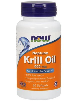NOW FOODS KRILL OIL NEPTUNE 500MG 60 SG