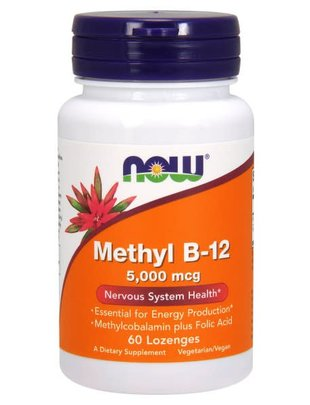 NOW FOODS METHYL B-12 5000mcg 60 LOZ
