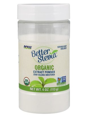 NOW FOODS BETTER STEVIA POWDER ORGANIC 4 OZ