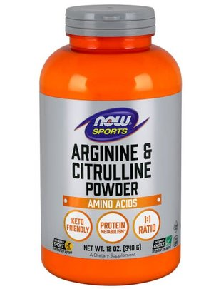 NOW FOODS ARGININE & CITRULLINE POWDER 12 OZ