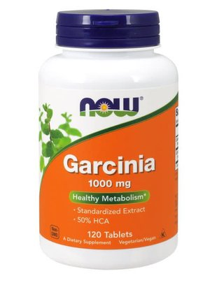NOW FOODS GARCINIA 1000MG 120 TABLETS