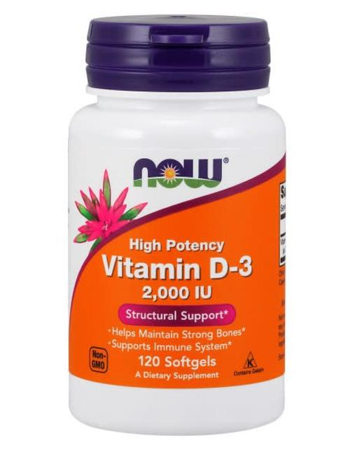 NOW FOODS D-3 2,000 IU 120 softgels