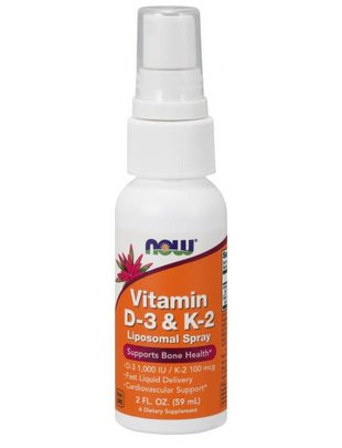 NOW FOODS D-3 & K-2 LIPOSOMAL SPRAY 2fl.oz