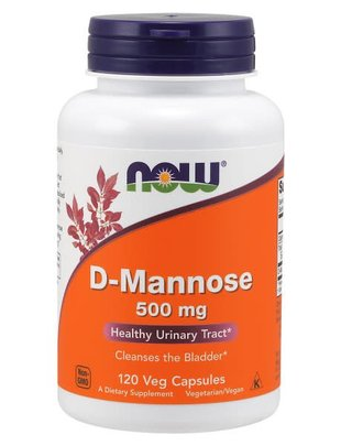 NOW FOODS D-MANNOSE 500MG 120 VCAPS